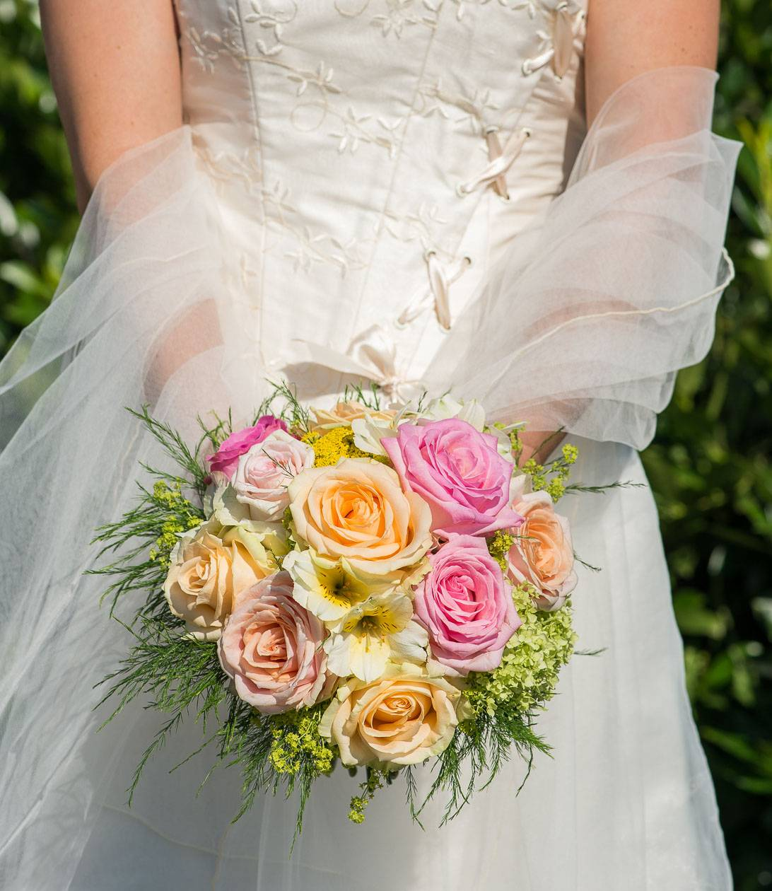 bouquet mariage rond
